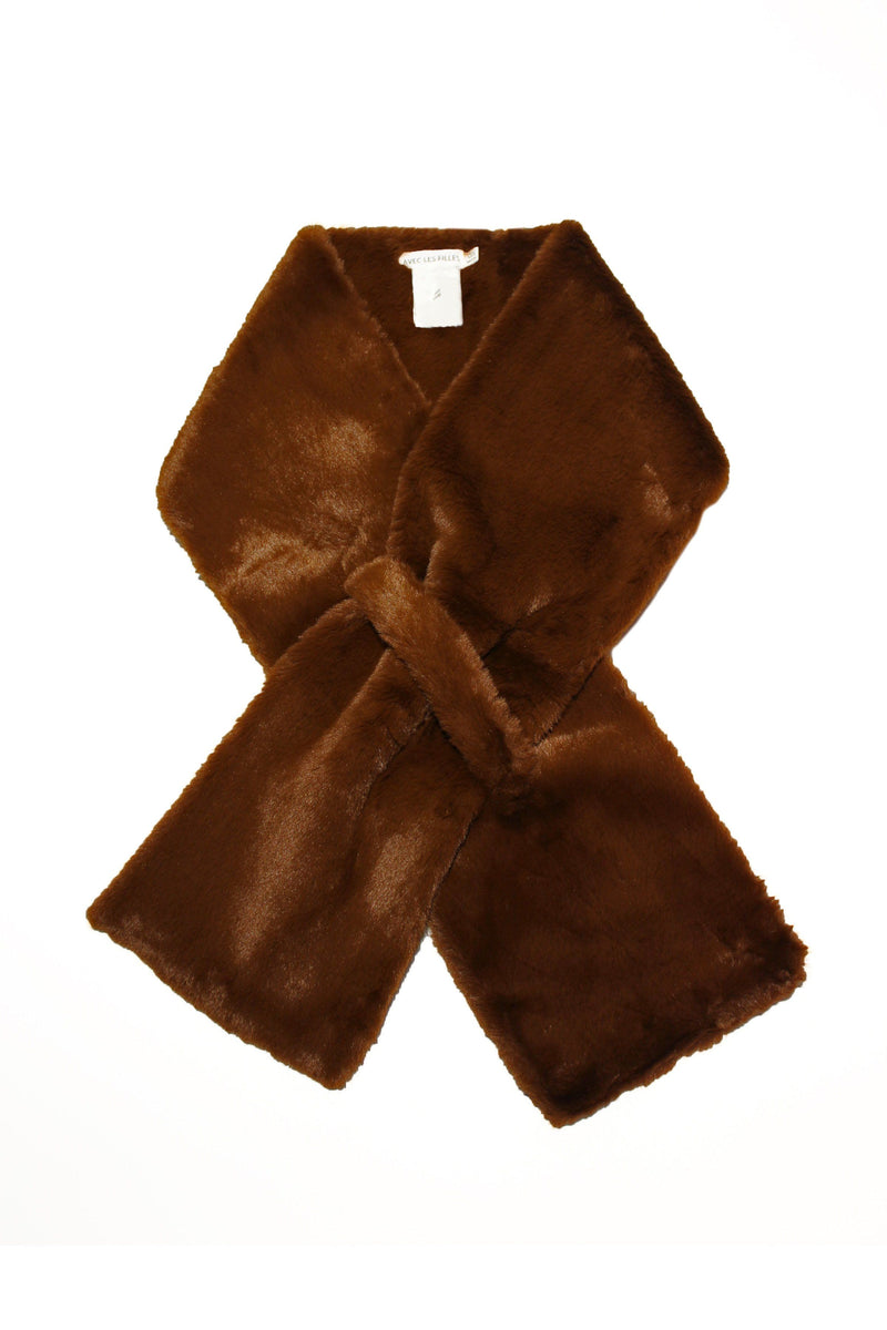 Faux Fur Pull-Through Scarf Accessories Avec Les Filles O/S Mink