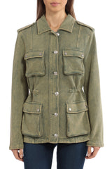 Washed French Terry Cargo Jacket Outerwear Avec Les Filles