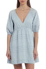 Tie-Back Cotton Babydoll Dress Dresses Avec Les Filles Sky Blue L