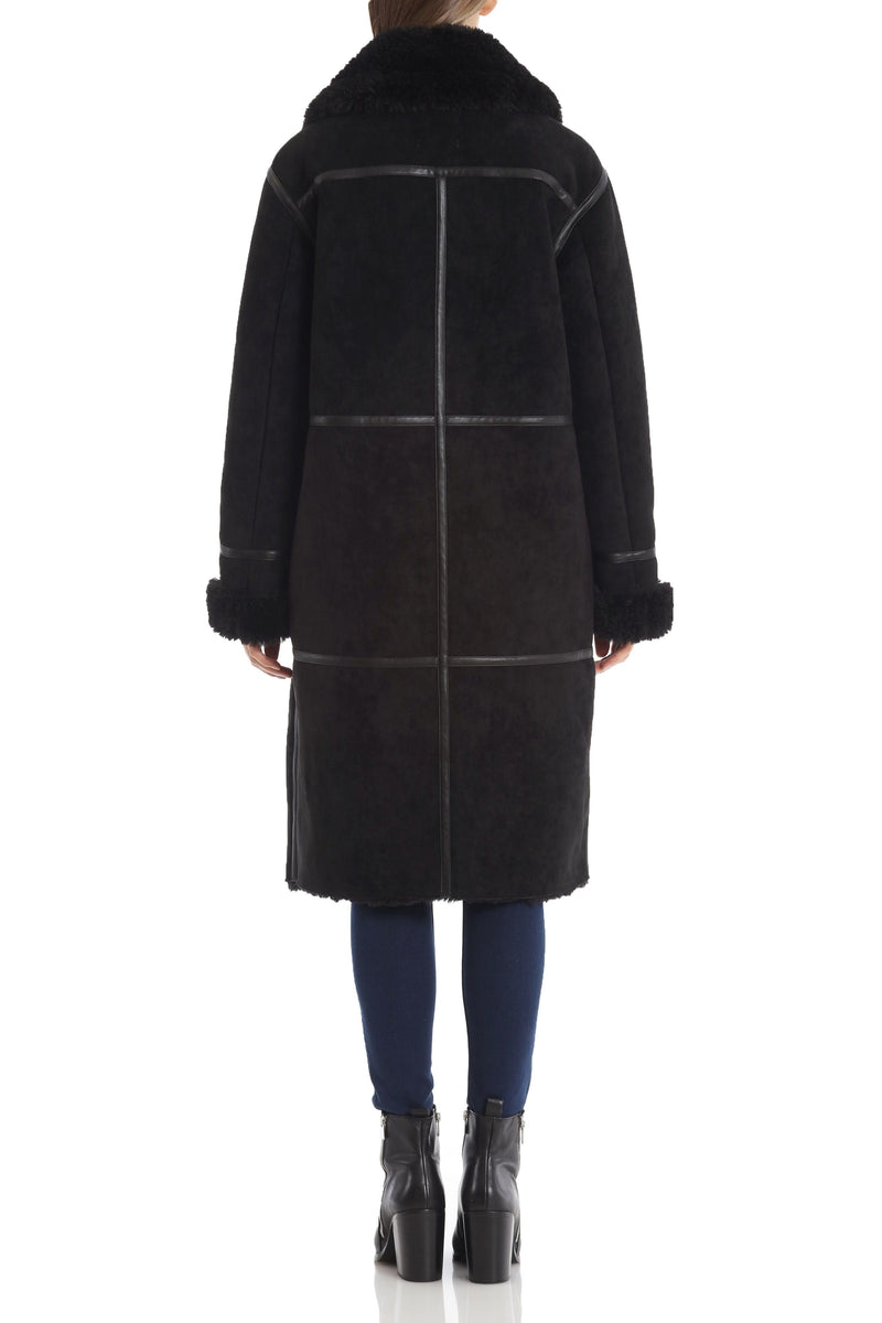 Double-Breasted Faux Shearling Coat Outerwear Avec Les Filles