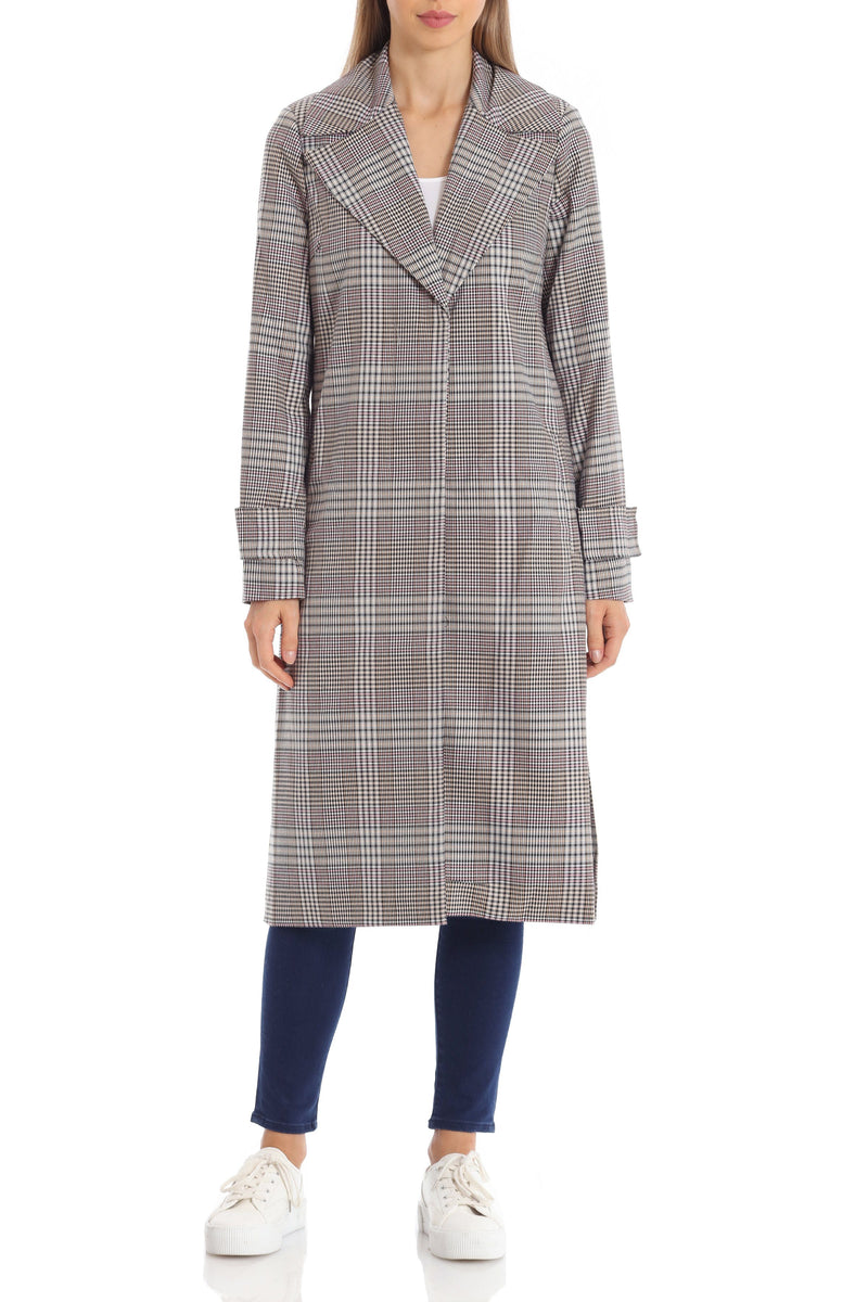 Menswear Plaid Trench