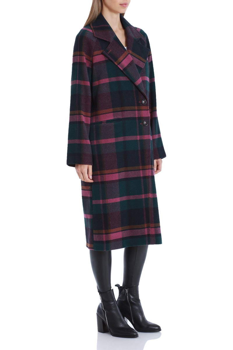Plaid Double Face Wool Coat