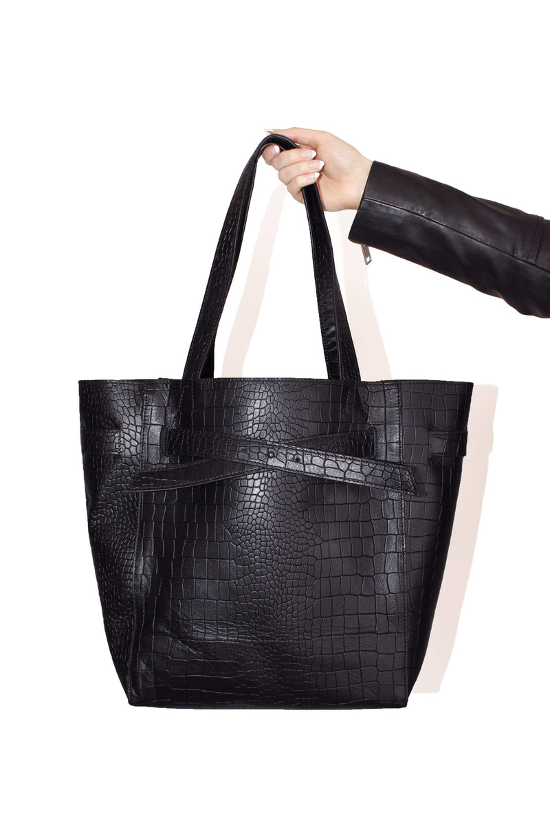 Avec Les Filles Genuine Leather 2-in-1 Tote