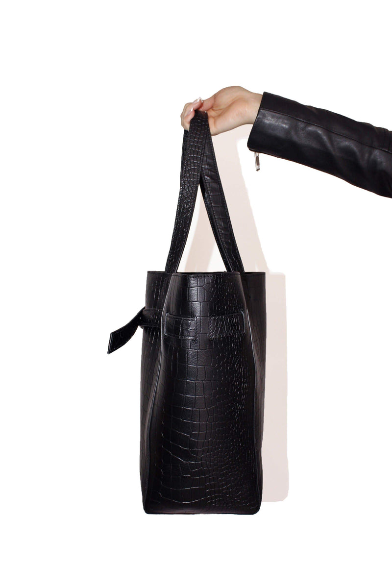 Genuine Leather 2-in-1 Tote
