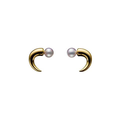 TASAKI refined rebellion horn Earrings
