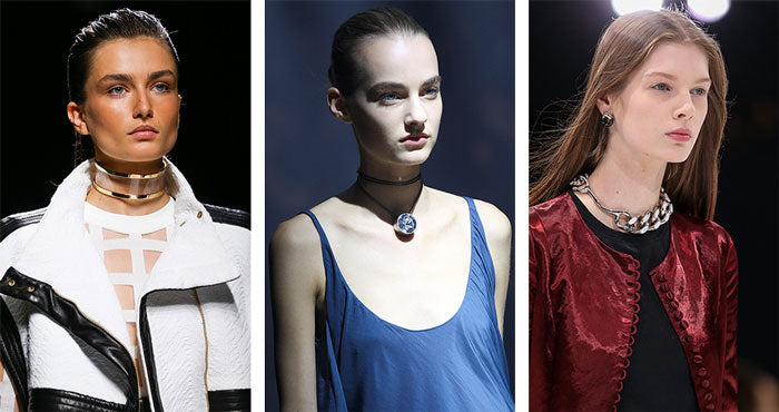 Choker Necklaces from Balmain, Lanvin & Christian Dior