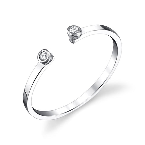 Gabriela Artigas Double White Diamond White Gold Ring
