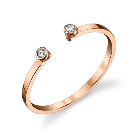 Gabriela Artigas Double White Diamond Rosegold Ring