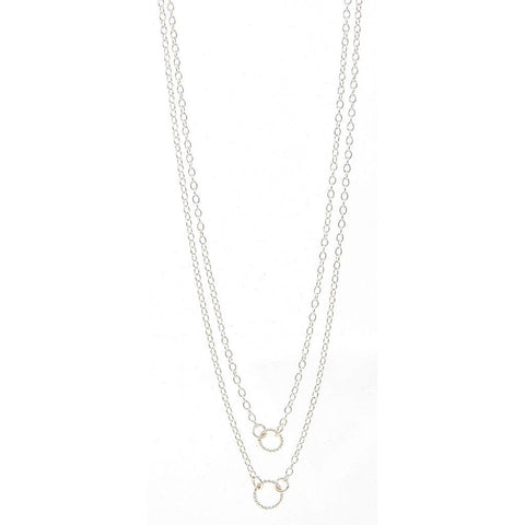 GORJANA Double rope necklace silver