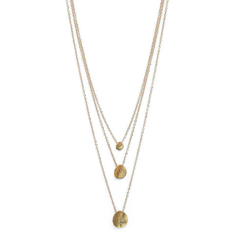GORJANA 3 petals necklace gold