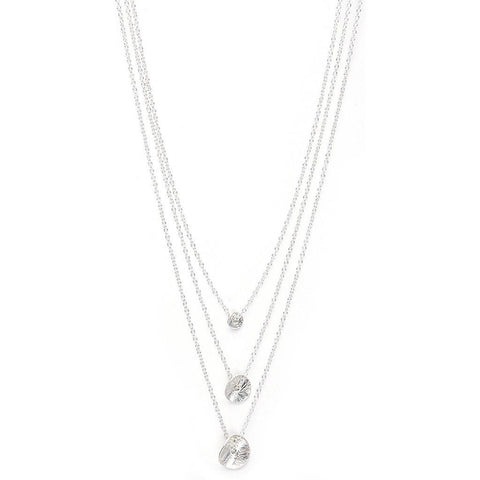 GORJANA 3 petals necklace silver