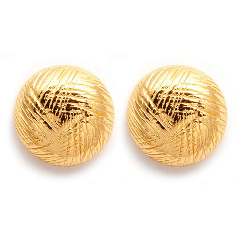 GORJANA Half ball earrings gold