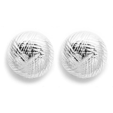 GORJANA Half ball earrings silver