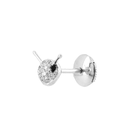 YVONNE LÉON Puce Abeille Diamond Bee Stud Earring