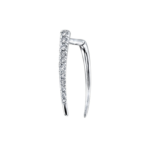 GABRIELA ARTIGAS Pave Infinite Tusk White Gold Earring