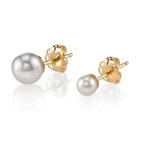 GABRIELA ARTIGAS Asymmetric Pearl and Gold Earrings