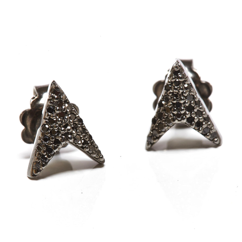 JADE JAGGER Black Diamond Arrow Earrings