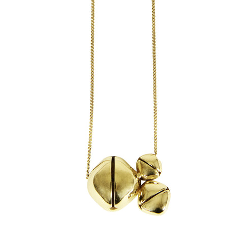 INA BEISSNER Bells Trio Gold Necklace