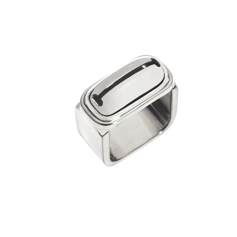INA BEISSNER Square Bell Silver Ring