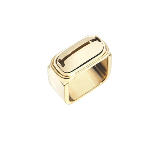 INA BEISSNER Square Bell Gold Ring