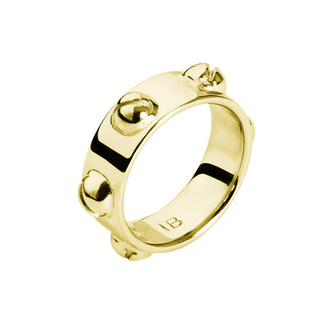 INA BEISSNER Bell Gold Stud Ring