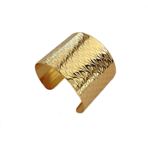 ALEXANDRA MARGNAT Poisson gold cuff