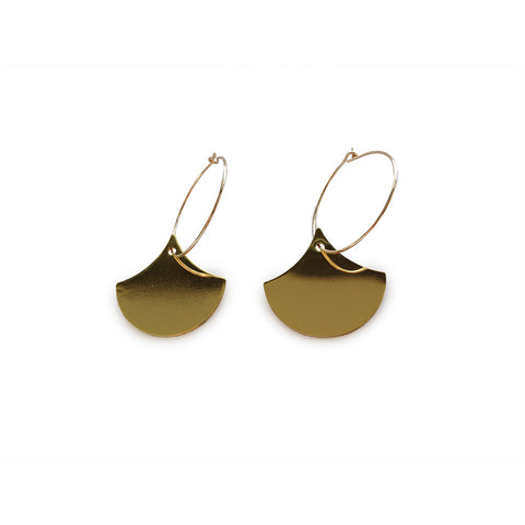 ALEXANDRA MARGNAT Hoop and Charm Gold Earrings