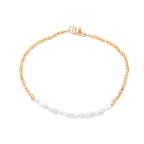 Cathering Weitzman Gold and Pearl Bracelet