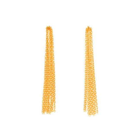 BY BOE Fringe earrings gold