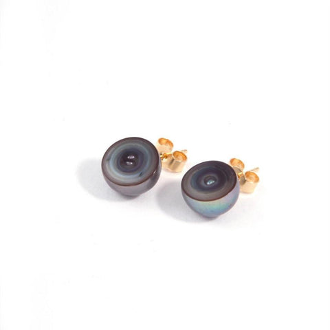 MELANIE GEORGACOPOULOS Sliced Peacock Pearl Earrings