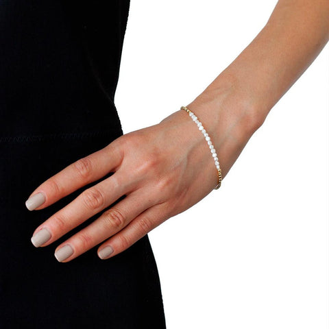 Catherine Weitzman Gold and Pearl Bracelet