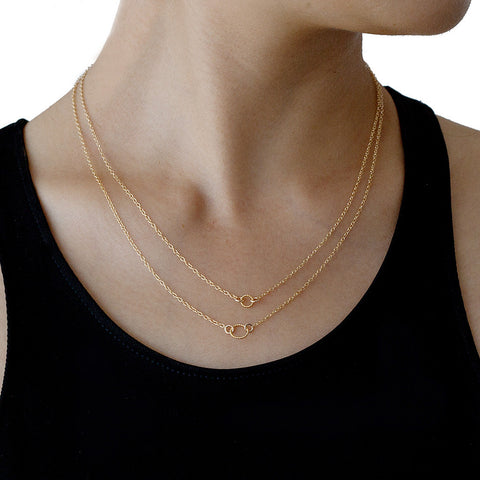 GORJANA Double rope necklace gold