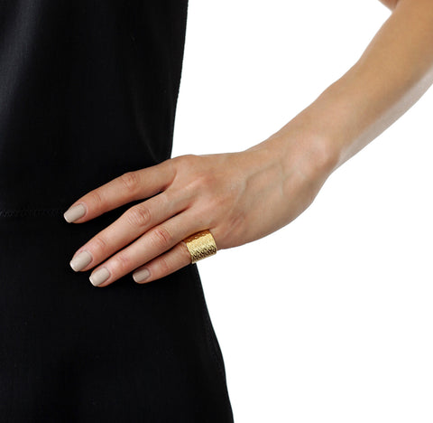 ALEXANDRA MARGNAT Poisson gold ring tall