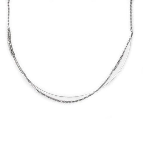 Adeline Cacheux Ellipse Sterling Silver Necklace
