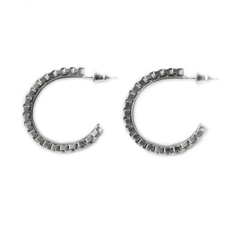 Adeline Cacheux Wild Charms Sterling Silver Hoop Earrings