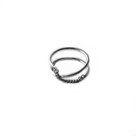 Adeline Cacheux Ellipse Sterling Silver Ring