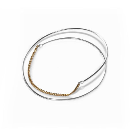 Adeline Cacheux Ellipse Sterling Silver and Gold Bracelet