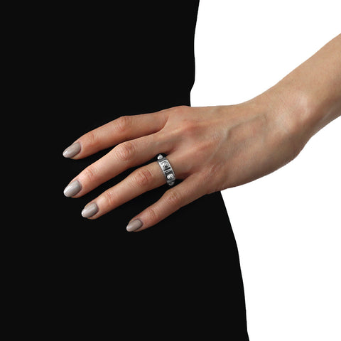 Ina Beissner Bell-studded ring silver