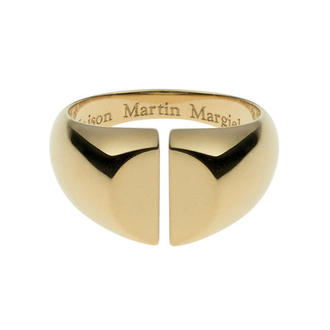 Maison Martin Margiela Line 12 Chevalière Yellow Gold Split Ring