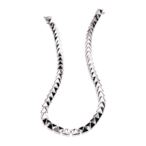 Eddie Borgo Pyramid necklace-Silver
