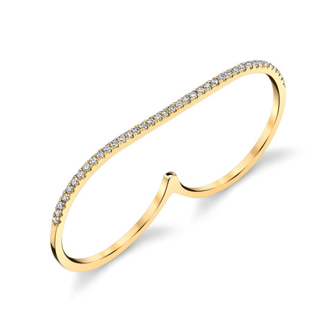GABRIELA ARTIGAS Pave Diamonds on Infinite Staple Gold Ring