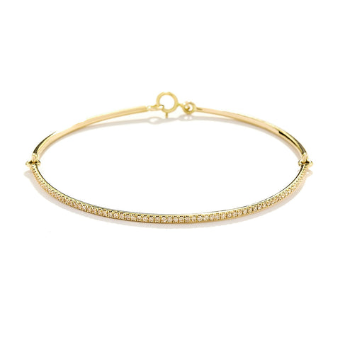 YANNIS SERGAKIS ADORNMENTS Liens Yellow Gold Diamond Bracelet