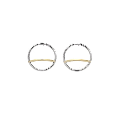 ADELINE CACHEUX Pure Circles Hoop Earrings