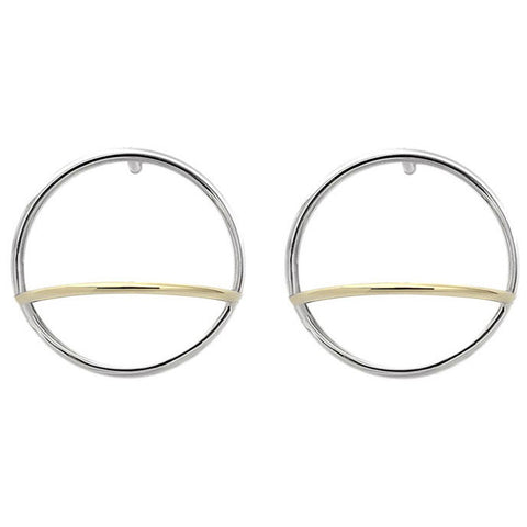 ADELINE CACHEUX Pure Circles Large Hoop Earrings