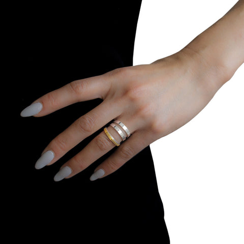 ADELINE CACHEUX Pop Stripes Triple Row Ring