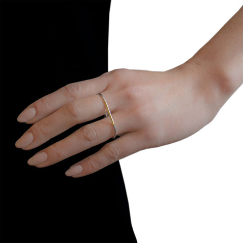 ADELINE CACHEUX Forever Gold and Sterling Silver Double Ring
