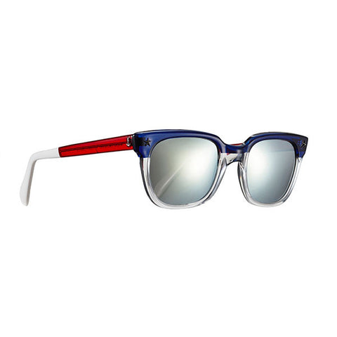 SHERIFF & CHERRY Mirrored Colorblock Americana Sunglasses
