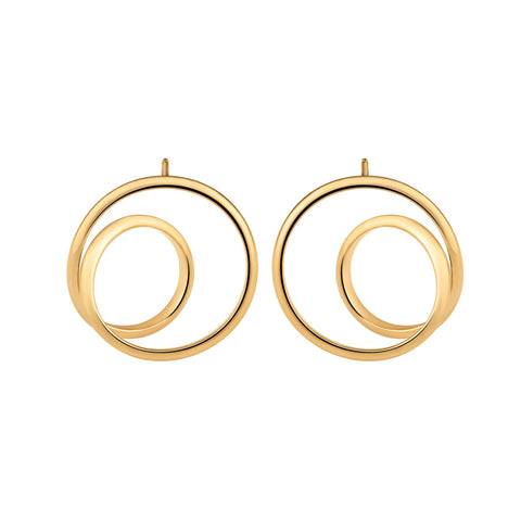 MAISON MARGIELA FINE JEWELRY Anamorphose Twisted Yellow Gold Earrings - Capsule Collection