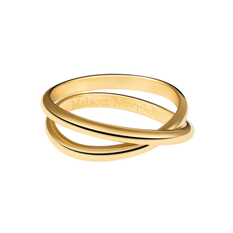 MAISON MARGIELA FINE JEWELRY Anamorphose Twisted Yellow Gold Ring - Capsule Collection