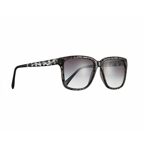 SHERIFF & CHERRY Tinted Lens Black Jungle Sunglasses